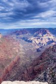 Incredible Grand Canyon Sight in the Very Early Morning — 图库照片