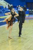 Minsk-Belarus, October 5,2014: Unidentified Professional dance c — Stock Photo