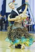 Minsk-Belarus, October 5, 2014: Professional dance Couple of Dul — Stock Photo
