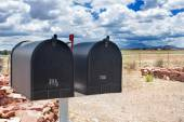 Row of Old Postboxes in Arizona State, USA — Stock Photo
