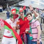 Minsk-Belarus, May, 20: Ice-Hockey Fans In Minsk having Fun Prio — Stock Photo #61123909