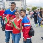 Minsk-Belarus, May, 20: Ice-Hockey Fans In Minsk having Fun Prio — Stock Photo #61123943