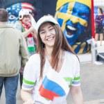 Minsk-Belarus, May, 20: Ice-Hockey Fans In Minsk having Fun Prio — Stock Photo #61125733