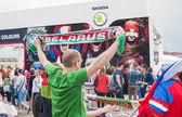 Minsk-Belarus, May, 20: Ice-Hockey Fans In Minsk having Fun Prio — Stockfoto