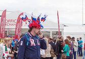 Minsk-Belarus, May, 20: Ice-Hockey Fans from Russia In Minsk Pri — Stock Photo