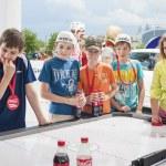 Minsk-Belarus, May, 20: Ice-Hockey Fans In Minsk having Fun Prio — Stock Photo #61151515
