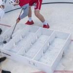 Minsk-Belarus, May, 20: Ice-Hockey Fans In Minsk having Fun Prio — Stock Photo #61151561