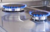 Closeup Shot of Two Gas Burners In Line Located on Kitchen Stove — Stockfoto