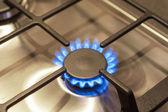 Closeup Shot of Gas Burner on Stove — Stock Photo