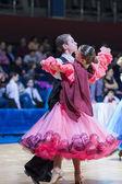 Gritcan Artem and Zagrebailova Yana perform Juvenile-1 Standard European program — Stock Photo