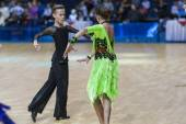 Lukashov Nikita and Kruisberg Sandrina Perform Juvenile Latin-American Program — Foto Stock