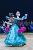 Lukashov Nikita and Kruisberg Sandrina perform Juvenile-1 Standard European program — Stock Photo