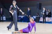 Minsk-Belarus, December 20, 2014: Professional belarussian dance — Stock Photo