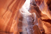 The Upper Antelope Canyon in Page, Arizona, United States. India — Stock Photo