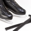Professional Mens Figure Skates With Blade Covers Together. Over — Stock Photo #66190051