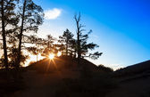 Ascending Sun in the Very Early Morning at Sunrise Point of Bryc — Stock Photo