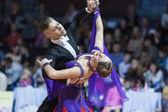 Minsk, Belarus-February 15, 2015: Dance Couple of Shmidt Danila  — Stock fotografie