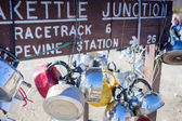 Teakettle Junction in Death Valley , California, United States o — Stock Photo