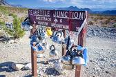 Plenty of Kettles Across Teakettle Junction in Death Valley in C — Stock Photo