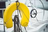 Yellow life jackets — Stock Photo