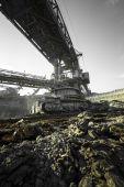 A huge mining machine — Foto Stock