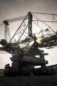 Una máquina de gran minería — Foto de Stock