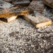 Sawn off pieces of wood — Stock Photo #63692139
