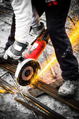 Electrical steel grinding — Foto de Stock