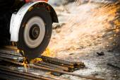 Electrical steel grinding — Stock Photo
