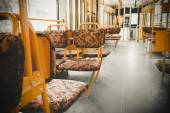 The interior of an electric yellow seats — Stockfoto