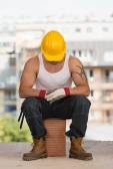 Lazy Man On Construction — Foto de Stock