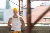 Portrait Of Handsome Worker — Stock Photo