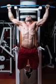 Chin Ups Exercise For Back — Stock Photo