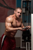 Triceps Exercise — Stock Photo