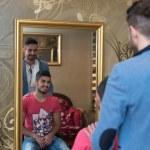 Man At The Hair Salon Situation — Stock Photo #55745261