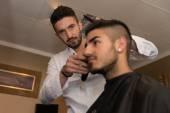 Man At The Hair Salon Situation — Stock Photo