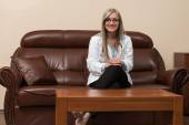 Young Doctor Relaxes Sitting In The Office — Stock Photo