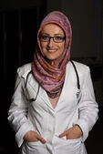 Young Muslim Doctor At Work — Stock Photo