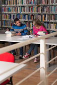 People Studying In A Library — Stock fotografie