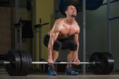 Bodybuilder Doing Deadlift For Back — Stock Photo