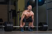 Deadlift Workout For Back — Stock Photo