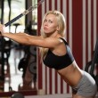 Hot Woman Doing Exercise For Triceps — Stock Photo #61260587
