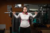 Barbell Squat Workout For Legs — Stock Photo