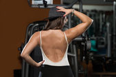Woman Showing Her Well Trained Back — Stock Photo