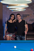 Couple Pool Player — Stock Photo