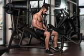Resting Between Sets And Exercises — Stock Photo