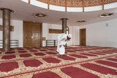African Muslim Man Praying At Mosque — Stock Photo