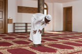 Young African Muslim Guy Praying — Stock Photo