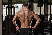 Physically Man Showing His Well Trained Back — Stock fotografie