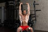 Mature Man Working Out Triceps — Stock Photo
